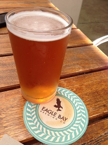 Saison beer at Eagle Bay Brewery