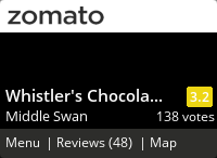 Click to add a blog post for Whistler's Chocolate Company on Zomato