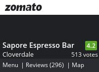 Sapore Espresso Bar Menu, Reviews, Photos, Location and Info - Zomato
