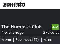 The Hummus Club Menu, Reviews, Photos, Location and Info - Zomato