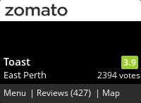 Toast Menu, Reviews, Photos, Location and Info - Zomato